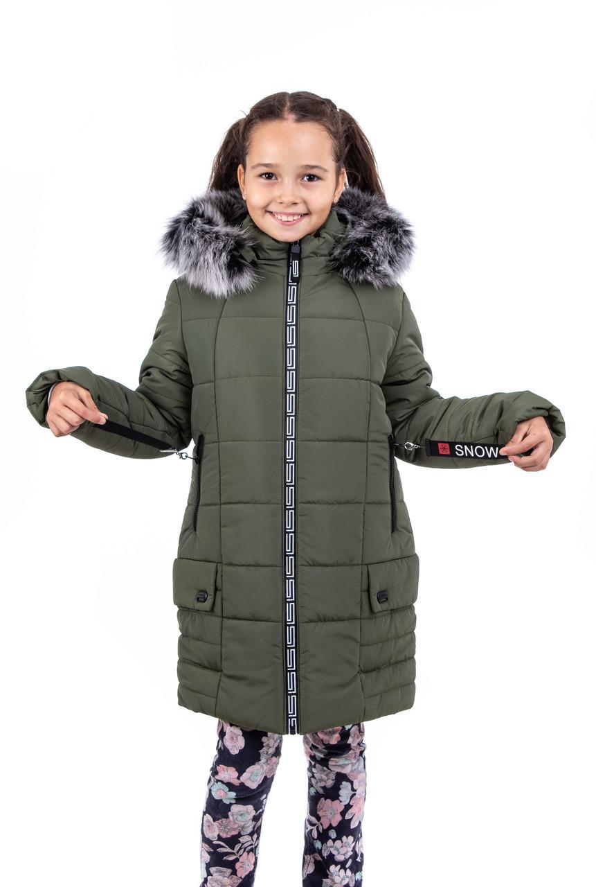 Зимняя куртка парка для девочки    от производителя   34-38 хаки