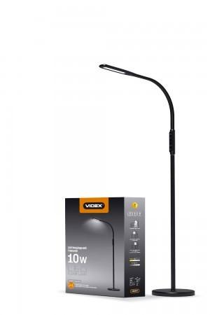 LED торшер напольный Videx VL-TF0701B 10W 3000-5500K black