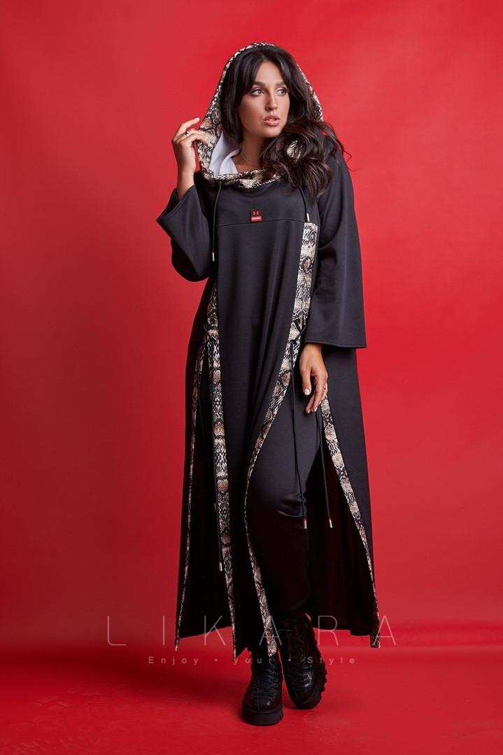 Женский костюм большого размера Likara / французский трикотаж / Украина 32-884, фото 1