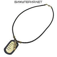 Жетон армейский и пуля Gold Stainless Steel на шнурке  - 1040903032
