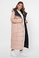 Зимняя куртка женская длинная на пуху пальто  LS-8848-8