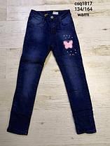 Утеплені джинси, вельветы і котонові штани на флісі для дівчаток ОПТ