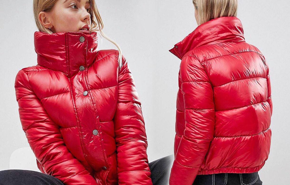 """Женская стильная короткая куртка на синтепоне 515 """"Стойка Кнопки"""" в расцветках"""