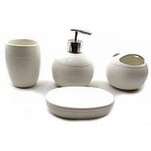 Набор белый керамический для ванной комнаты