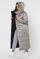 Зимняя куртка женская длинная на пуху пальто  LS-8848-20