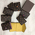 Кошелек реплика Louis Vuitton Monogram Мини на кнопке   lv монограм   Луи Витон Малиновый, фото 4