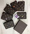 Кошелек реплика Louis Vuitton Monogram Мини на кнопке   lv монограм   Луи Витон Малиновый, фото 6