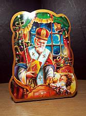 Святкова Упаковка з картону Святий Миколай в роздріб, до 400г, фото 3
