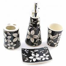 Набор аксессуаров для ванной комнаты Цветы