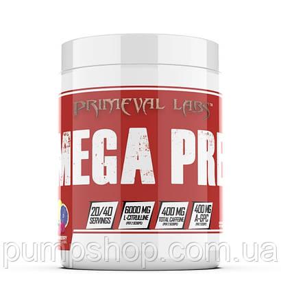 Предтренировочний комплекс Primeval Labs Mega Pre RED 40 порц., фото 2
