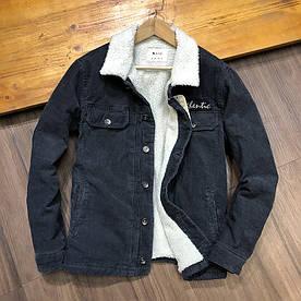 Куртка чоловіча вельветова на хутрі (демисезон/еврозима)