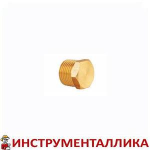 Фитинг заглушка с наружной резьбой латунный 1/4 SOS P-40-1 Sumake