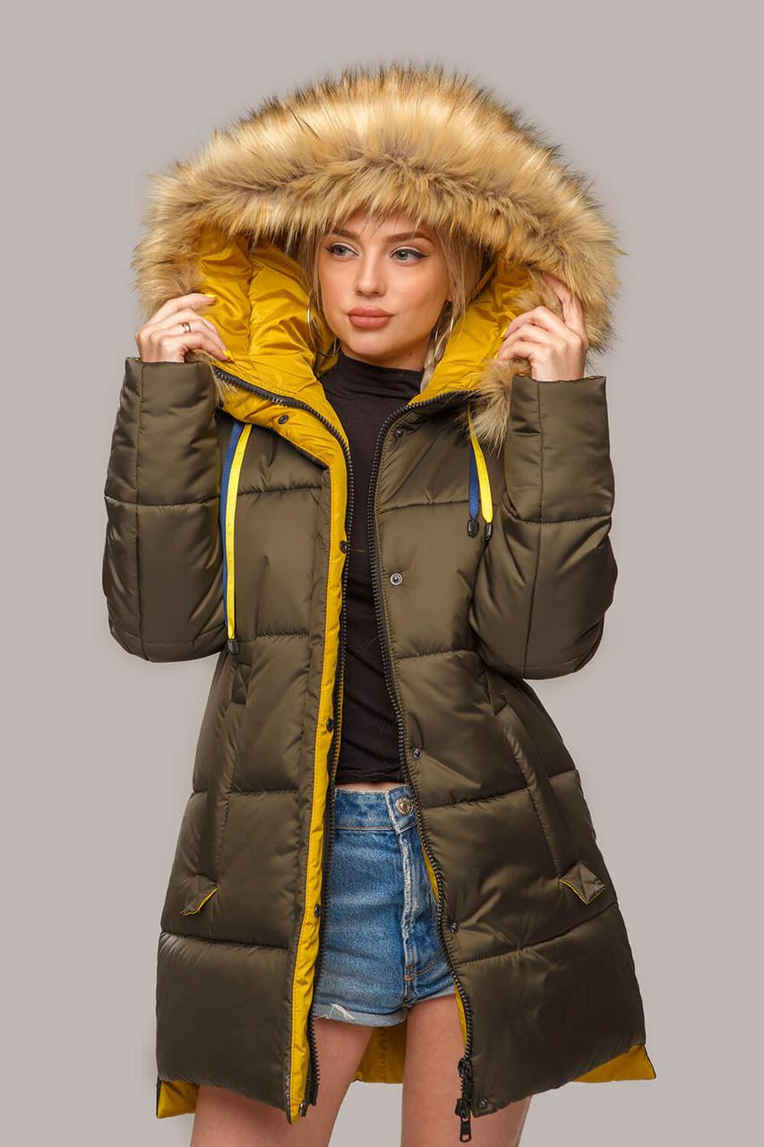 Зимова куртка парку з утеплювачем тінсулейт 44-56 розмір