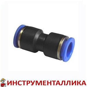 Соединитель прямой для пластиковых трубок 4 мм PUC 04 Sumake