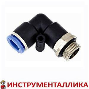 Соединитель быстроразьемный наружная резьба 1/4 - пластиковый шланг 6мм PL 0602 Sumake