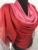Женский красный шарф с переходом (цв.3)