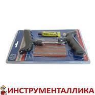 Набор для затяжки шнуров (шило, игла, клей и 5 шнуров) синий блистер, фото 5