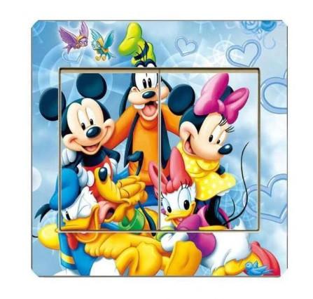 Наклейка на выключатель с Микки Маусом - 9*9см