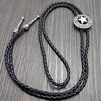 Галстук Bow Tie House Basic боло - Звезда шерифа (галстук шнурок бола) - металлического цвета 09051