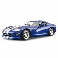 Авто конструктор dodge viper gts coupe (1996) (синий, 1:24)