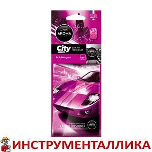 "Ароматизатор AROMA ""Car City Card"" (bubble gum) - жвачка"