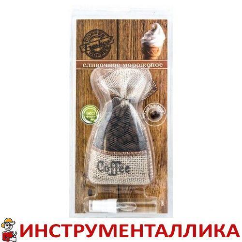 Ароматизатор мешочек Coffee Freshco Сливочное мороженое + спрей
