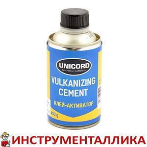 Клей для ремонта камер и шин банка без кисти Cement 450 г Unicord