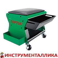 Сиденье автослесаря подкатное 350x260x240мм 3 полки JCA-350B Toptul