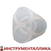Наклейка Предупреждающий знак Радиация 28 см х 28 см 46866