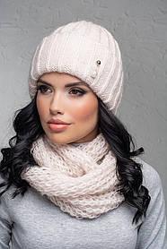 Комплект (шапка и снуд-хомут) Flirt Лика-Морган One Size пудра