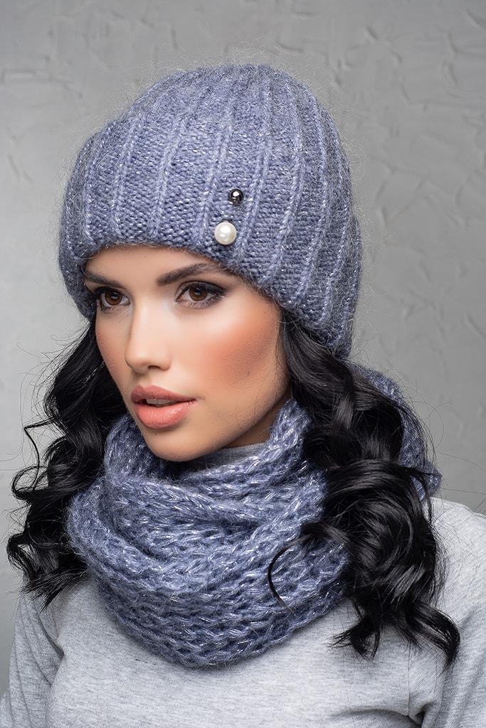 Комплект (шапка и снуд-хомут) Flirt Лика-Морган One Size джинс