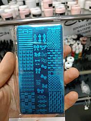 Пластина для стемпинга для манікюру Бантики Геометрія арт.XY-Z19