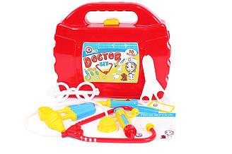 """Іграшка """"Маленький лікар ТехноК"""", 4012 (8шт) в чемодані 27 х 22.5 х 8.5 см"""