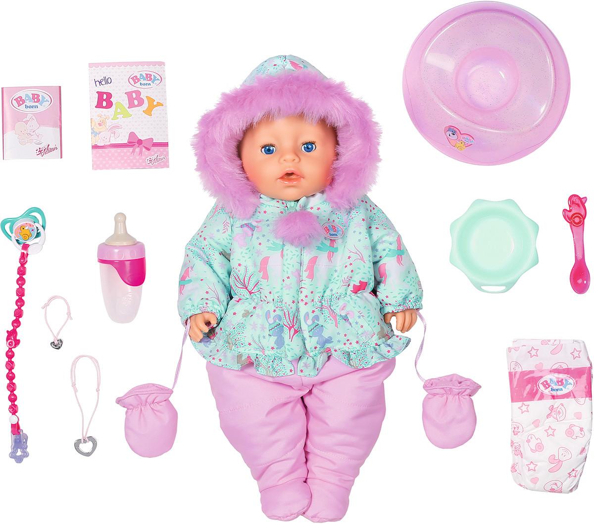Кукла Zapf Baby Born Нежные объятия - Зимняя Красавица с аксессуарами 43 см (827529)