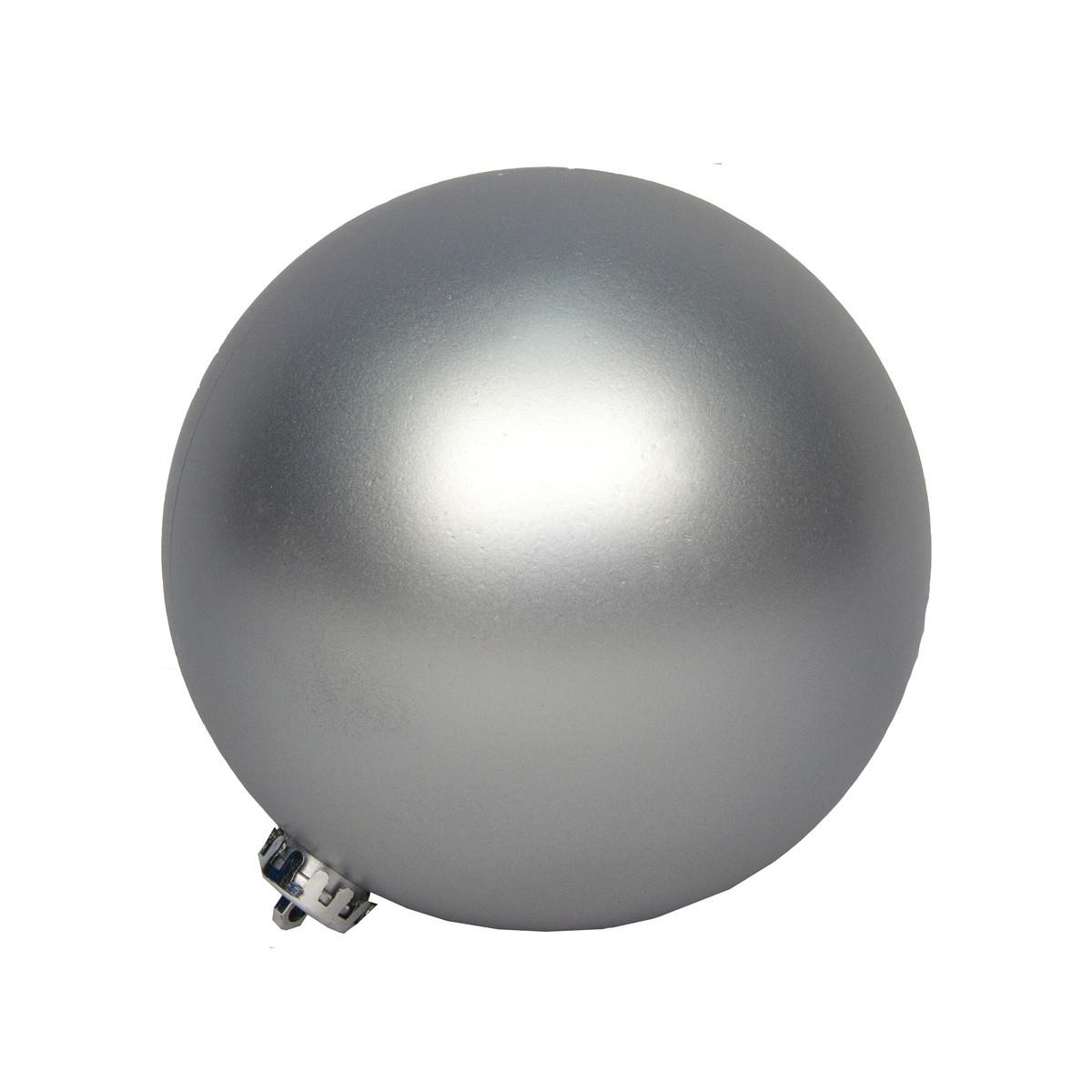 Большая елочная игрушка - шар, 40 см, пластик, серебристый (031412-1)