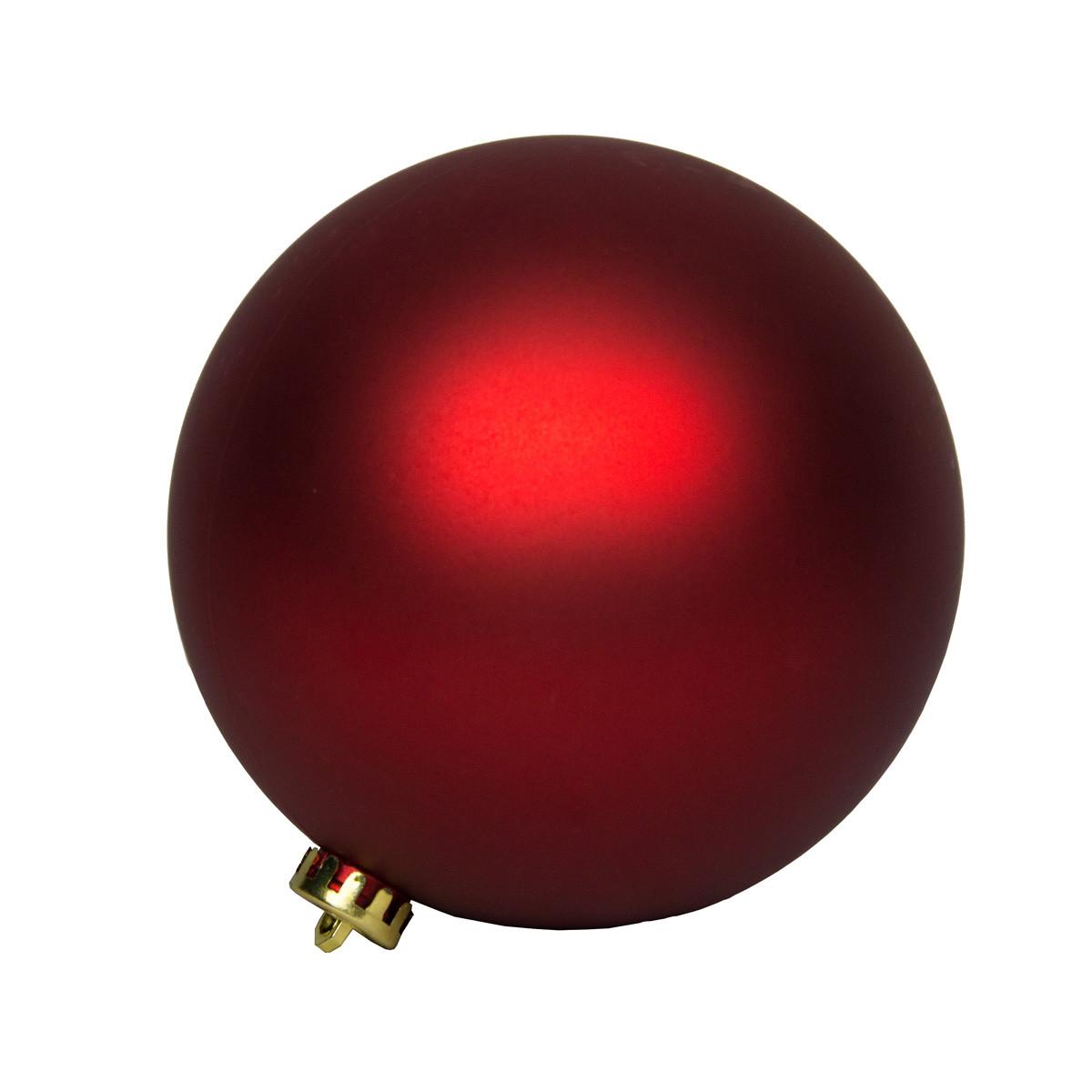 Большая елочная игрушка - шар, 40 см, пластик, красный (031412-4)