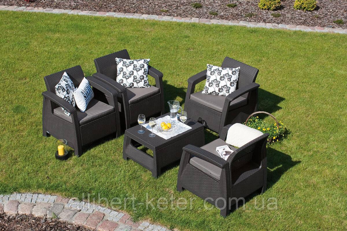 Комплект садовой мебели Curver Corfu Quattro