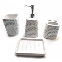 Декоративный набор для ванной комнаты керамика