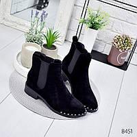 Ботинки женские Nicole черные , женская обувь