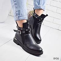 Ботинки женские Sylvie черные , женская обувь