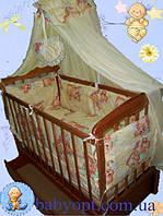 Постельный набор в детскую кроватку 3,6, 8, 9 элементов