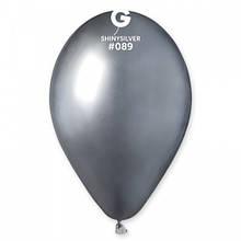 """Латексна кулька хром срібний 13"""" / 89 / 33см Shiny Silver"""