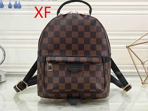 Рюкзак среднего размера реплика реплика Louis Vuitton   луи виттон   lv лв (0553) квадрат коричневый