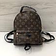 Рюкзак среднего размера реплика реплика Louis Vuitton | луи виттон | lv лв (0553) квадрат коричневый, фото 3
