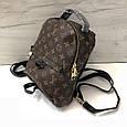 Рюкзак среднего размера реплика реплика Louis Vuitton | луи виттон | lv лв (0553) квадрат коричневый, фото 4