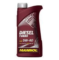 Масло моторное синтетическое MANNOL DIESEL TURBO SAE 5W-40 1л