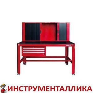 Верстак слесарный 3 полки выдвижных наверсной шкаф 87512 KingTony