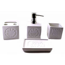 Аксессуары для интерьера ванной комнаты керамика