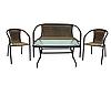 Набор садовой мебели GardenLine стол + 2 стула + скамейка