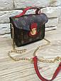 Сумка в стиле Louis Vuitton на цепочке Красный, фото 4